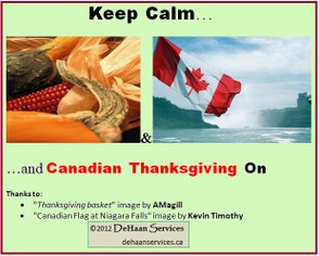 """Keep Calm for Canadian Thanksgiving"" image by Mike DeHaan"