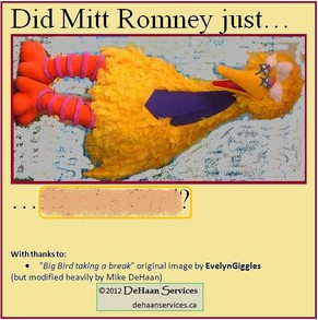 Setting up Mitt Romney versus Big Bird