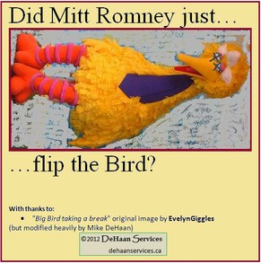 Did Mitt Romney just...Flip the Bird?