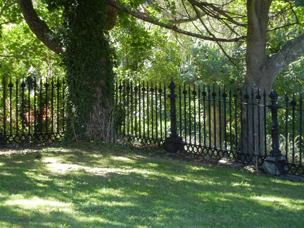 Backyard Defined with Decorative Fencing