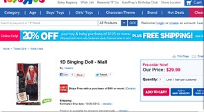 ONE DIRECTIOn singing dolls