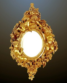 Gold Carved Wood Italian Mirror