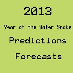 2013 year of the water snake predictions