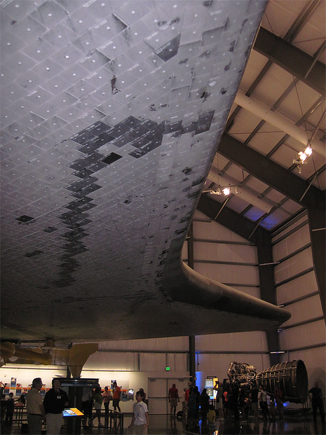 Underbelly of Endeavour.