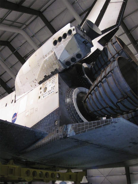 Shuttle engines.