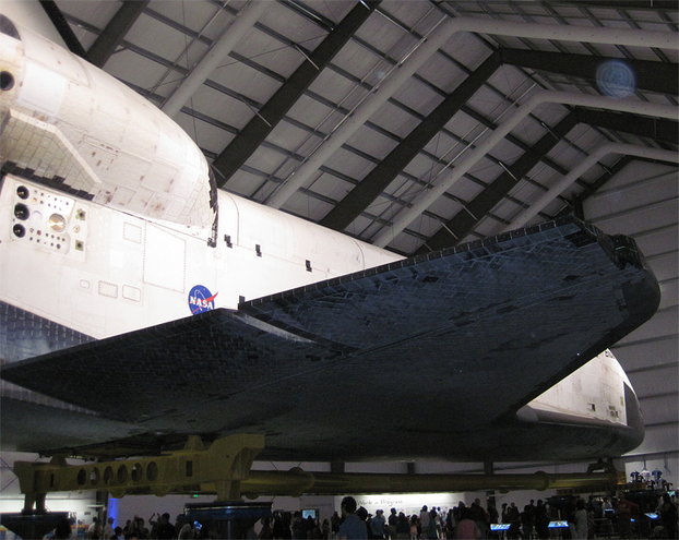 Aft of Space Shuttle.