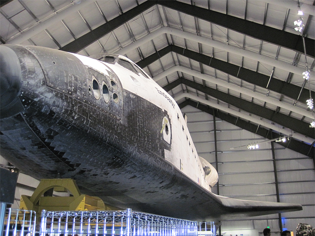Left side of shuttle.