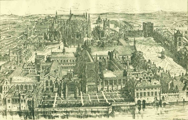 Image: Westminster in the 16th century