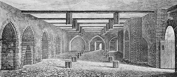 Image: The Gunpowder Conspirators' Undercroft.