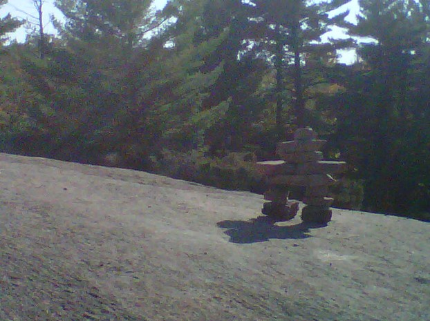 Inuksuk on Huckleberry Rock