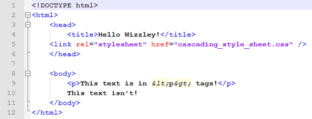 A small HTML document