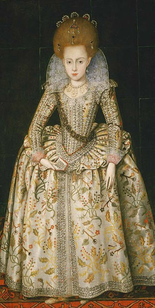 Image:  Princess Elizabeth Stuart in 1606 aged ten