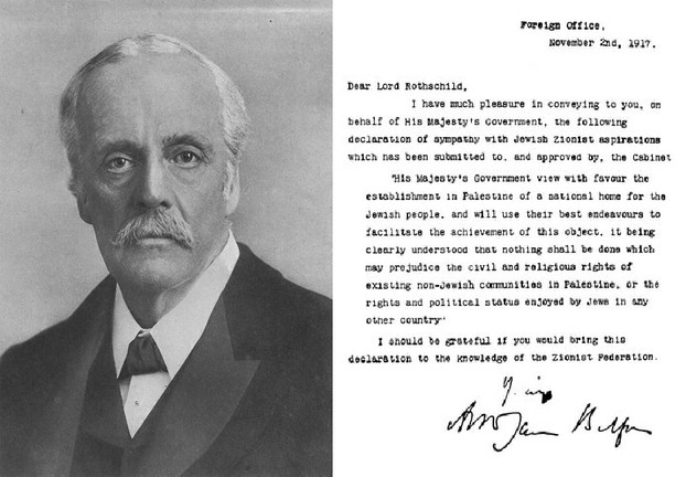 Image: The Balfour Declaration