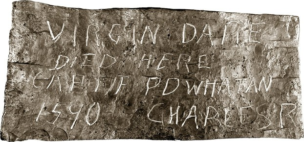 Image: Dare Stone telling of Virginia Dare's death in 1590.