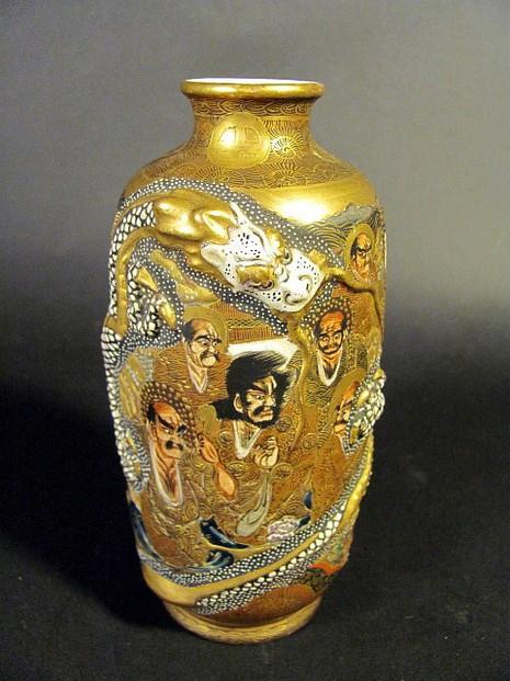 Antique Japanese Satsuma Vases