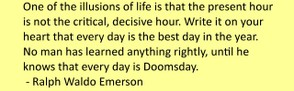 Doomsday Meaning - Ralph Waldo Emerson