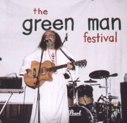 Bard of Ely performing at the Green Man Festival