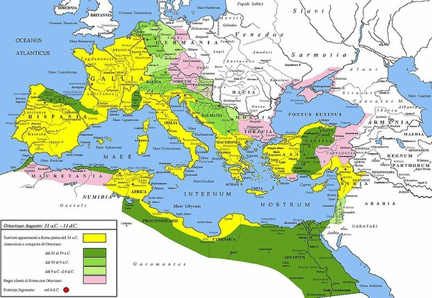 The Extent of the Roman Empire under Augustus