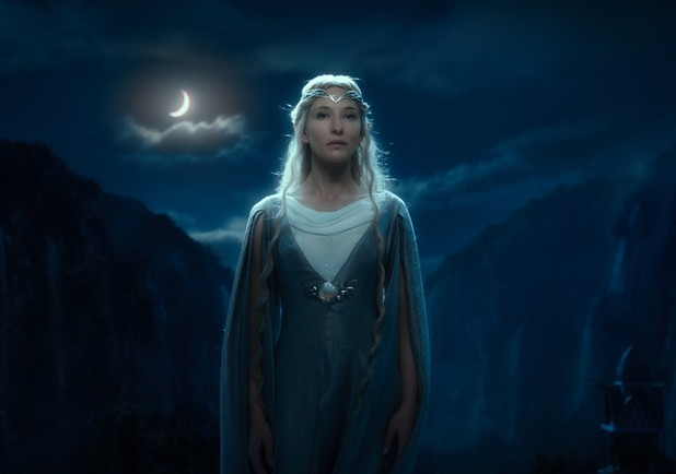 Image:  Cate Blanchett as the Goddess-like Galadriel.