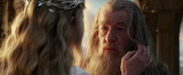 Image:  Galadriel in a rare departure into hairdressing.
