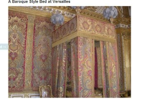 A Baroque Style Bed at Versailles