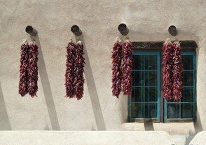 Chilies drying in the sun.