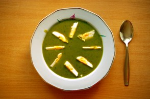 Sorrel Soup with Egg.