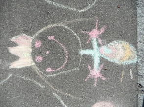 Chalk drawing