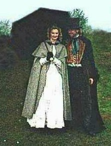 Joely Richardson with the Bard of Ely