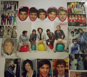 One Direction Posters on Bedroom Wall