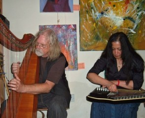 Robin Williamson and wife Bina in concert
