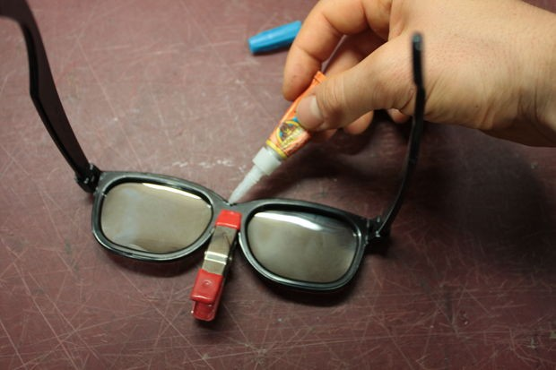Glue the lenses in (they may fall out just because their too thin