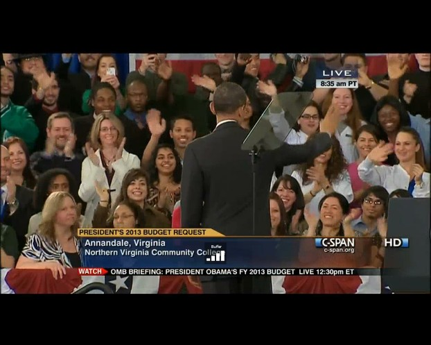 My Daughter Greeting President Obama