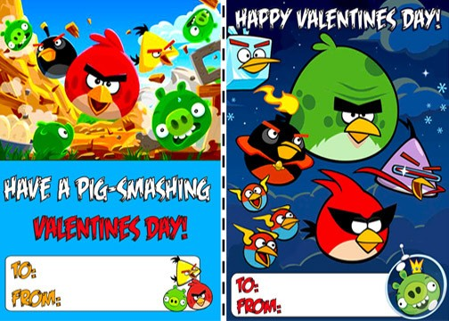 Angry Birds Valentine's Day Cards on Ebay