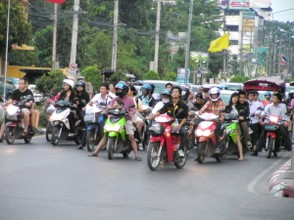 Traffic in Hua Hin