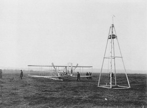 Wright Flyer and Catapult
