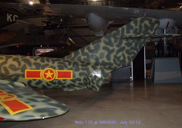 MiG-17F walk around - tail