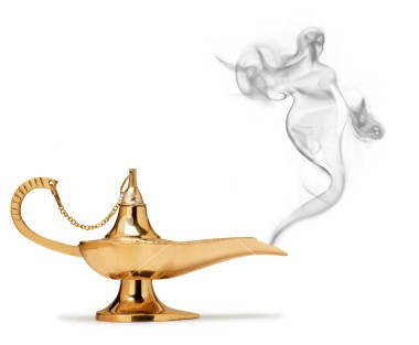 Genie Lamp Apperition