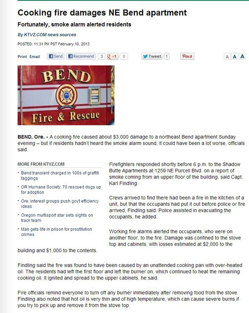 Bend Post news Clipping