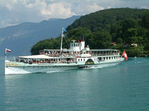 Steamboat on Lake Thun