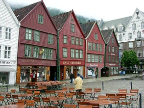 The Old Town in Bergen, Norway