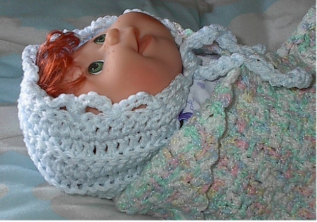 Double Crochet Baby Bonnet Pattern : 30 Minute Crochet Baby Bonnet - Quick and Easy Pattern