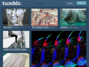 Screenshot of Tumblr Homepage