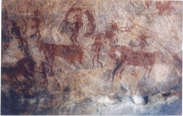 Indian cave painting