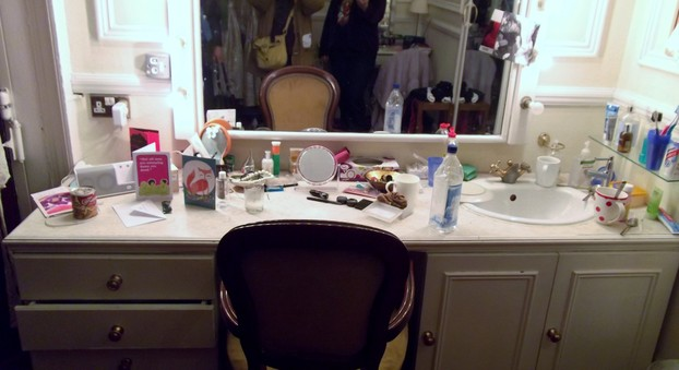 Dressing table, Theatre Royal, Haymarket.