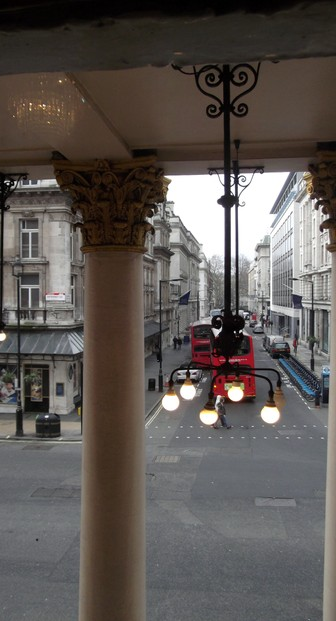 View from upper window Theatre Royal