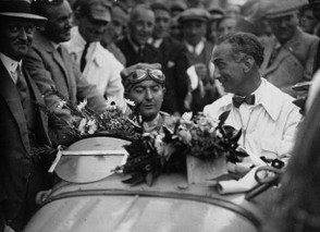 Williams after winning the Belgium Grand Prix in 1939