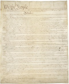United States Constitution, page one