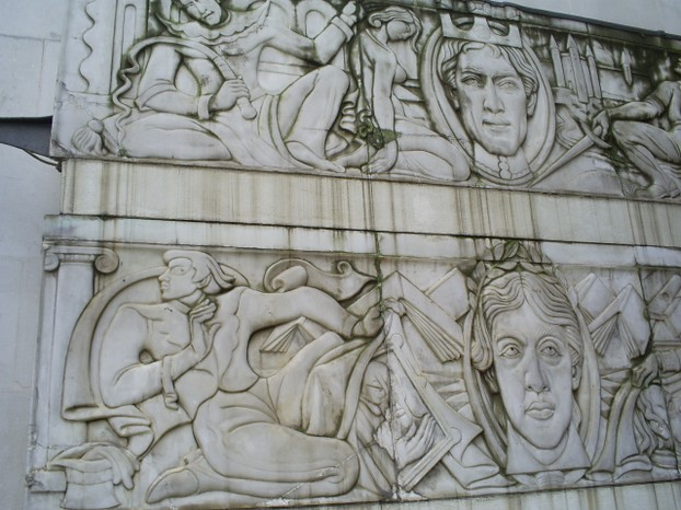 Carved Mural in Memory of St James Theatre