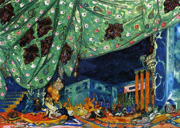 Set Designs by Bakst for Scherezade